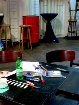 Flipcharts, Stifte, Kreativität, Workshop, Impulse, Farben, Zeichnen, Schreiben, Illustrieren