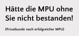 Referenz MPU-Vorbereitung